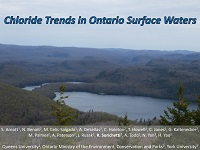 cover page of presentation on chloride trends in Ontario surface water