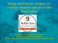 cover page of presentation on using underwater imagery to monitor invasive species
