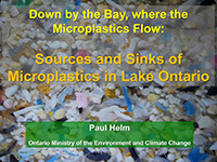 cover page of presentation on sources of microplastics