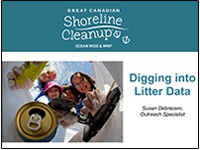 cover page of litter data presentation