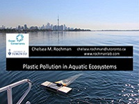 cover page of presentation on plastic pollution in aquatic ecosystems
