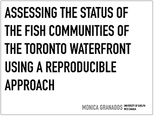 cover page of 2016 science seminar presentation on assessing the status of fish communities