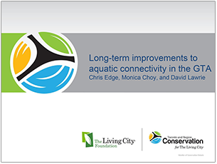 cover page of 2016 science seminar presentation on long term improvements to aquatic connectivity