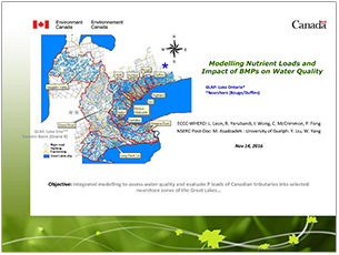 cover page of 2016 science seminar presentation on modeling nutrient loads