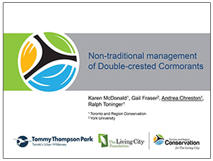 cover page of science seminar report on cormorant management