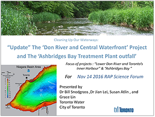 cover page of 2016 science seminar report on Don River Central Waterfront project