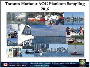 cover page of 2016 science seminar presentation on Toronto Harbour plankton sampling