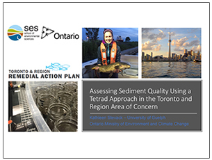 cover page of science seminar presentation on sediment quality