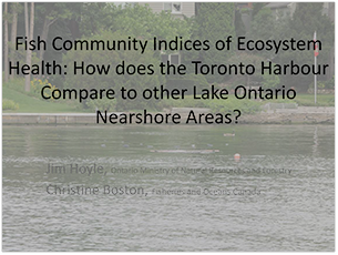 cover page of 2016 science seminar presentation on fish community indices of ecosystem health