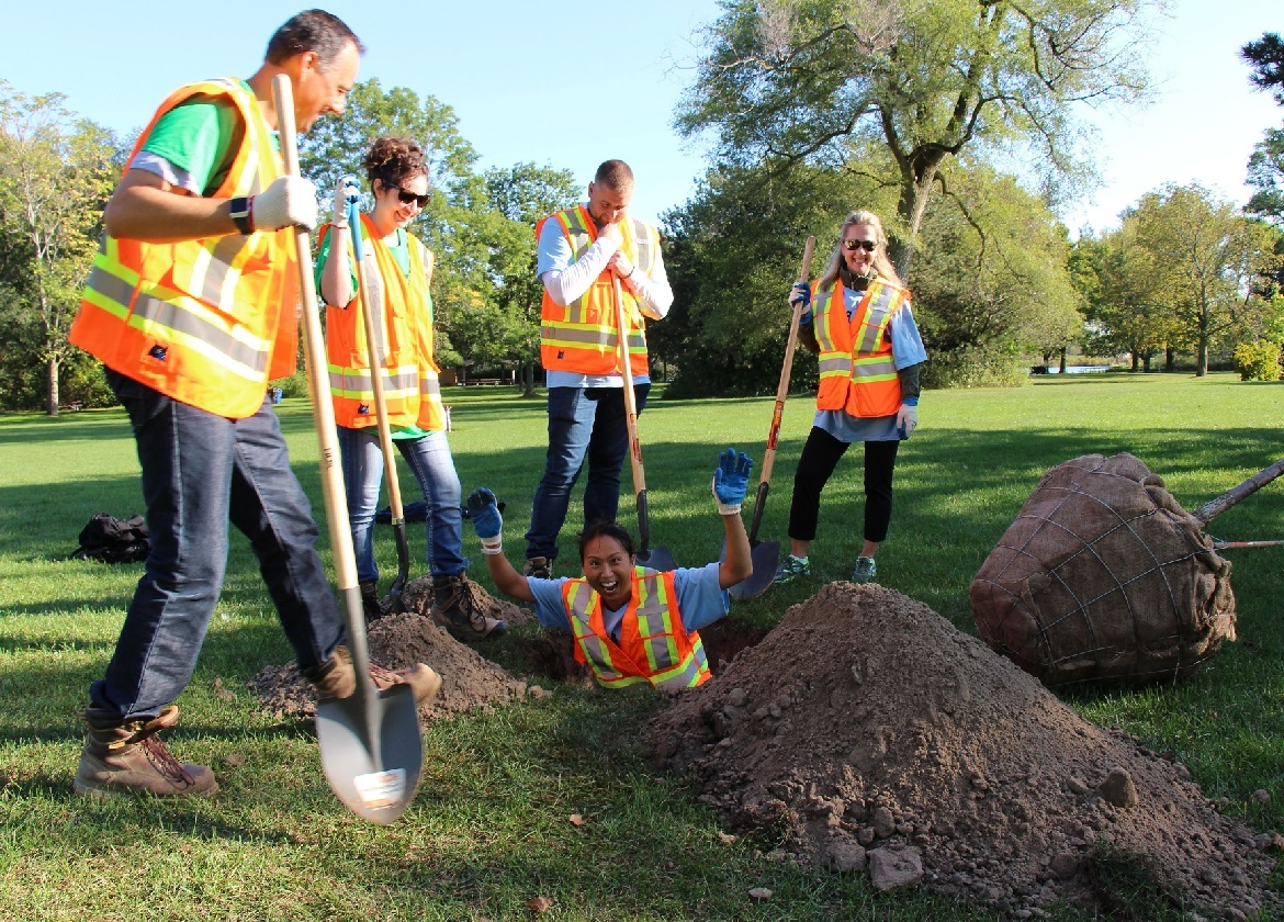 community members take part in tree planting event