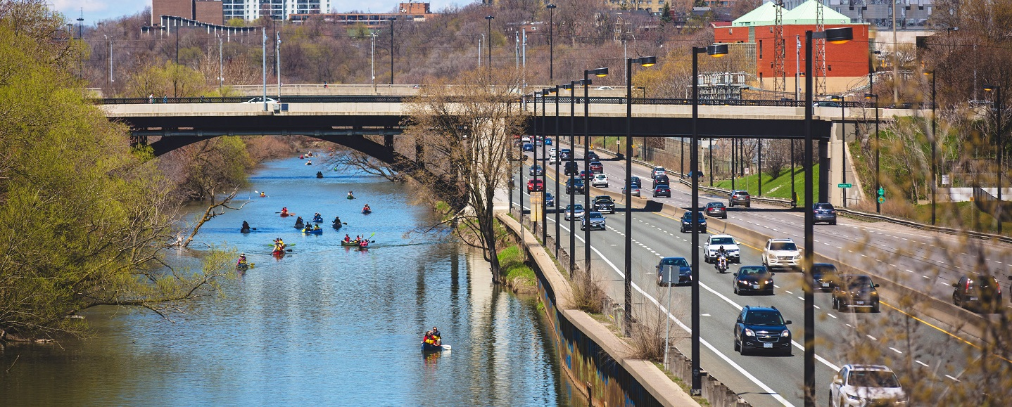 community members take part in the May 2019 Paddle the Don Event